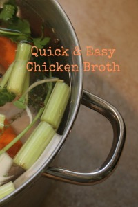 Quick & Easy Chicken Broth Vertical